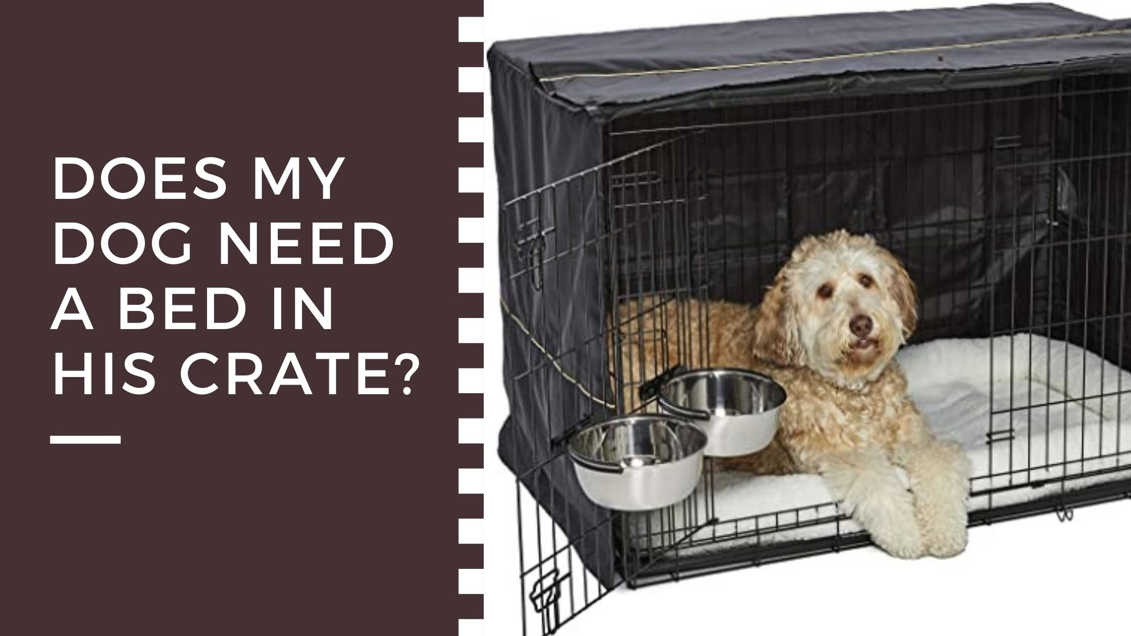 Dog bed in crate
